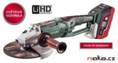 METABO WPB 36 LTX BL 230 LiHD 2x6,2 Ah 36V aku úhlová bruska 230mm 613101660