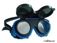 Odklápěcí ochranné svářečské brýle s kruhovými zorníky 9734