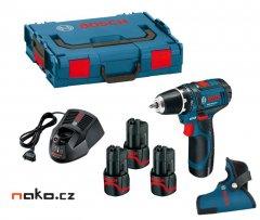 BOSCH GSR 12V-15 Professional aku šroubovák L-Boxx, 3x2Ah, 0615990F...
