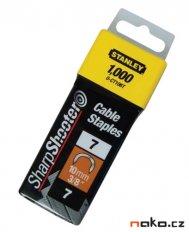 """STANLEY 1-CT108T spona kabelová 12mm 1/2"""" 1000ks"""