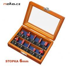 EXTOL PREMIUM 44041 sada tvarových fréz do dřeva s SK plátky, 10ks,...