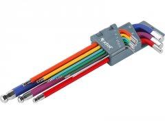 EXTOL PREMIUM sada imbus klíčů 1,5-10mm 9dílů barevné 8819315