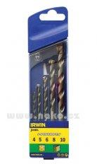 IRWIN kazeta příklepových vrtáků 4, 5, 6, 8, 10mm