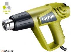 EXTOL CRAFT 411013 horkovzdušná opalovací pistole, 2000/1000W, 550/...