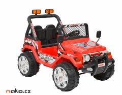 HECHT 56181 dětské aku autíčko OFFROAD červené 2x 6V, 7Ah, 2x 25W...