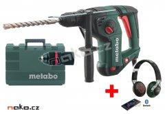 METABO KHE 3251 kombinované vrtací a sekací kladivo + bluetooth sluchátka