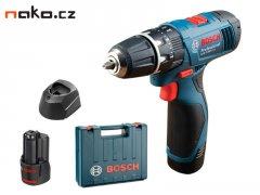 BOSCH GSB 1080-2-LI Professional 2x1,5Ah aku příklepový šroubovák 0...