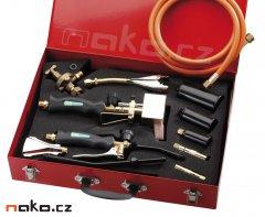 MEVA I112 souprava 7 hobby hořáků, 2 rukojeti, ventil, páječka
