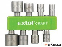 """EXTOL CRAFT 10213 sada nástrčných šestihranných hlavic 1/4"""" 8ks"""
