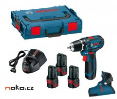 BOSCH GSR 10,8-2-LI Professional aku šroubovák L-Boxx, 3x2Ah, 0615990FA2