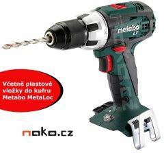 METABO SB 18 LT aku příklepová vrtačka bez baterií s vložkou do kufru MetaLoc 602103890