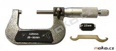 Mikrometr 25-50mm, 0,01mm