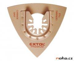 EXTOL PREMIUM 8803860 tvrdokovová rašple trojúhelníková do oscilačních brusek 78mm