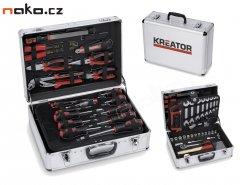 KREATOR KRT951002 sada ručního nářadí v hliníkovém kufru, 109 dílů...