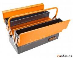 NEO TOOLS kufr na nářadí 550mm plechový rozkládací 84-101