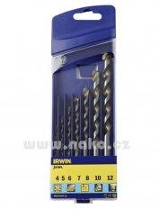 IRWIN kazeta příklepových vrtáků 4, 5, 6, 7, 8, 10, 12mm 10501893