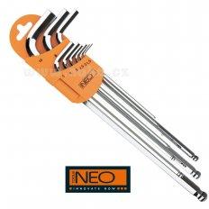 NEO TOOLS sada imbus klíčů 1,5-10 magnetických 9 dílů, 09-515