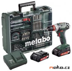 METABO BS 18 Quick SET aku vrtačka MOBILNÍ DÍLNA 2x2Ah Li-Ion 60221788