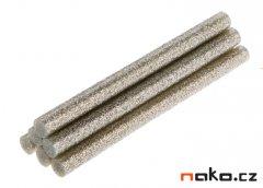 TOPEX 42E182 lepící tavné tyčinky 7mm stříbrné třpytky 6ks