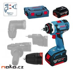 BOSCH GSR 18 V-EC FC2 Flex Professional aku vrtačka 18V 2x4Ah 06019E1101 FlexiClick