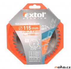EXTOL pilový kotouč s SK plátky 115x1,3x22,2 (8803203)