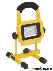 POWERPLUS Light POWLI226 přenosná AKU LED lampa 10W 2,6Ah LiIon s p...