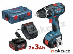 BOSCH GSR 14,4 V-LI Professional aku vrtačka L-Boxx 2x 3Ah 0601866002