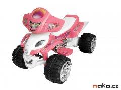 HECHT 55118 dětská aku čtyřkolka růžová 12V, 7Ah, 25W