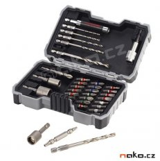 BOSCH PRO-mix sada bitů, nástrčných klíčů a vrtáků do oceli 2607017...
