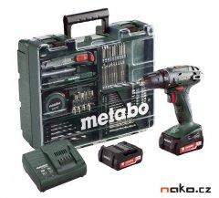 METABO BS 14,4 Li Set aku vrtačka mobilní dílna 2x2.0Ah Li-Ion 6022...