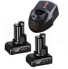 BOSCH set nabíječky a akumulátorů 2x GBA 12V/6Ah Li-Ion 1600A00X7N ...