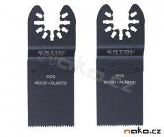 EXTOL PREMIUM 8803852 pilový plátek zanořovací na dřevo do multi brusek 34mm HCS 2ks
