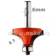 CMT C73818711 fréza zaoblovací vydutá R3, stopka 6mm