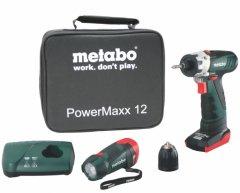 Metabo PowerMaxx BS Basic 1x3Ah+1x1,5Ah aku šroubovák + svítilna PoverMaxx LED 6.00091.55