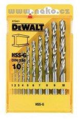 DEWALT DT5921 sada vrtáků HSS-G 10 dílů 1-10mm