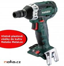 METABO SSW 18 LTX 200 aku rázový utahovák bez baterií s vložkou do kufru MetaLoc 602195890