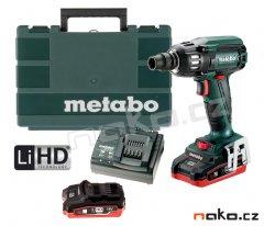 METABO SSW 18 LTX 400 BL aku rázový utahovák 2x3,5Ah LiHD 602205820