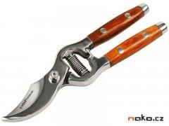 Nůžky na větve s dřevěnou rukojetí