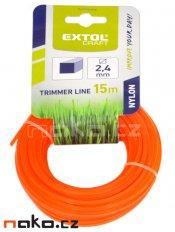 EXTOL CRAFT 70924 struna do sekačky pr.2,4mm/ 15m, čtvercový profil, nylon