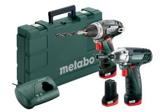 METABO Combo Set 10.8 V PowerMaxx BS Basic + SSD LiIon 3x 2.0Ah 685...