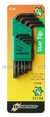 """BONDHUS 31734 sada """"L""""-klíčů TORX T9-T40"""