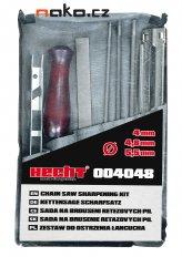 HECHT 004048 sada pilníků a vodítka na broušení pilových řetězů...
