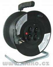 Kabel prodlužovací 50m/4zásuvky bubnový 450153