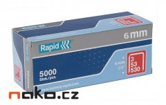 RAPID sponky 53/ 6mm 5000ks