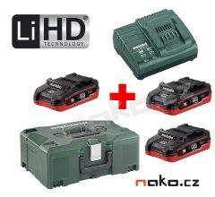 METABO Basic Set 18V LiHD (3x akumulátor 3.1Ah+nabíječka ASC 30-36+MetaLock II) 685075