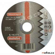 METABO 125x1mm NOVORAPID Inox řezný kotouč 616271000