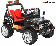 HECHT 56184 dětské aku autíčko OFFROAD černé 2x 6V, 7Ah, 2x 25W