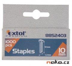 EXTOL PREMIUM hřebíky 12mm, 2,0x0,52x1,2mm, 1000ks, 8852404