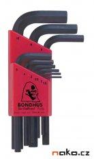 BONDHUS 12299 sada imbus klíčů krátkých 1.5-10mm