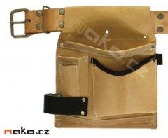 Kapsář jednodílný kožený M95 se sekernikem a opaskem 4,5 cm